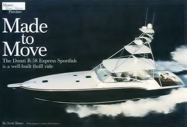 Made to Move title page, Yachting Magazine